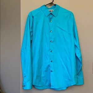 Men's express fitted dress shirt. Large.